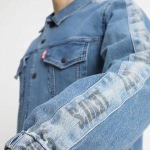 LEVI'S Track COACH'S Stripe Denim TRUCKER Jacket